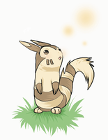 Little Furret looks up the sky by MilaKuruchi