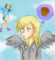derpy and her muffin by cheryl-jum