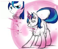 Shining Armor (Sketch) by mylittleRainbow-Time