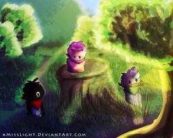 Blob Commission: Exploration! by dayylights