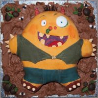 Morris The Mankiest Monster cake 1 by BevisMusson