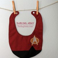 Piccard Star Trek Next Generation Baby Bib by DarlingArmy