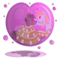 Trapped within a 'love'ly Bubble! by Kinipharian