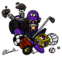 Waluigi the King of Spinoffs by Lwiis64