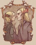 Thranduil and Legolas by Kibbitzer