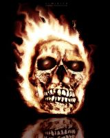 Skull Flames by Almirith7