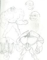 Hrusk Concept Sketches by Scuter