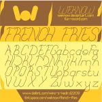 French fries font by weknow by weknow