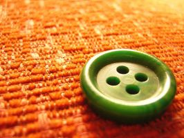 Green button. by madziass