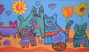 valentine's cats by ingeline-art