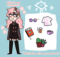 Witchsona ref by MutatedEye