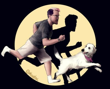 Markiplier and Chica (TinTin) by Shuploc