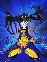 Wolvie And Venom Colors by shadowyzman