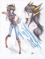 Yusei Fudo GB by silverfangcracker
