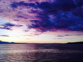 Sunset on the Washington Ferry by Thelunarwriter