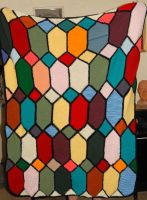 Knitted Quilt for a Soldier by teddiem