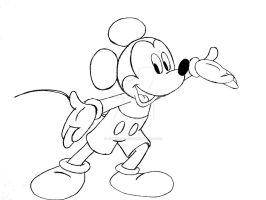 Another Mickey Mouse Drawing by JIMENOPOLIX
