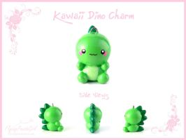 Kawaii Dino Charm by FlyingPandaGirl
