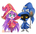 (+SPEEDCOLOR) Lulu and Veigar by Sweet-Pillow