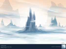 Ice Mountain by GraphiteOnPaper