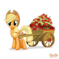 Applejack - Apple Cart by mysticalpha