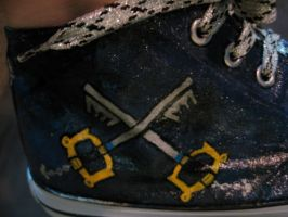 Kingdom Hearts custom painted shoes 4 by thedarkartistgirl