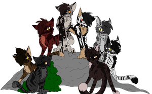Skull Family Photo FamousCats by GriffinBlood