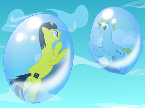 Blade and Dark Inside of Bubbles by Carlos235
