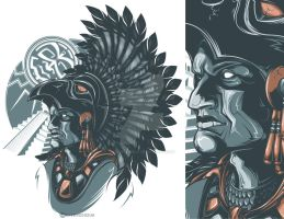 Aztec Warrior by Daver2002ua