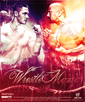 WrestleMania 28 ~ Poster by MhMd-Batista