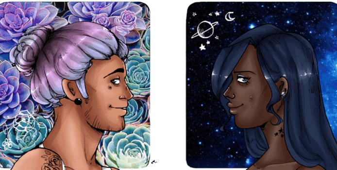 Earth and Space by SweetlyViolent
