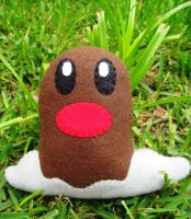 Wild Diglett Plush by P-isfor-Plushes