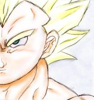 super saiyan Vegeta (quick drawing) by BronySaiyan