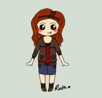 Amy Pond Chibi by xoxRufus