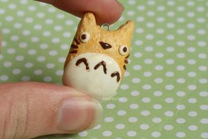 Totoro Cookie Clay Charm by xoxRufus