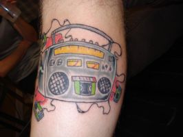 boom box tattoo by charlesbronson777
