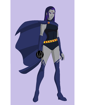 Young Justice Animated: Raven by xxxDorkusMaximusxxx