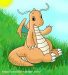 A peaceful Dragonite by Mast88