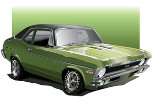 Chevy Nova Car-Toon by AdamPate