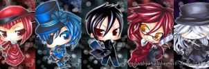 Black Butler Chibis by MoonlightAlchemist