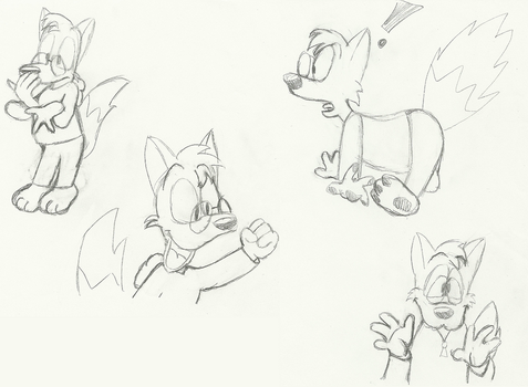 Specs the Fox Doodles 10-8-15 by MetaKnight2716