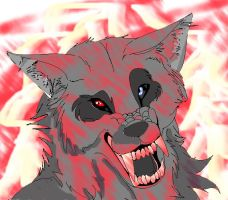 Bloody Wolf by Shadowcrushesall