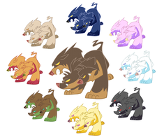 Cerberus Color Versions by PashaPup