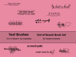 Text Brushes 'Out of Reach' by geekluvinskater