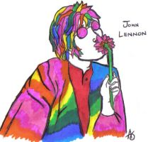 John Lennon by syntheticapple