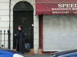 Sherlock: Waiting For A Cab by MirroredSilhouettes
