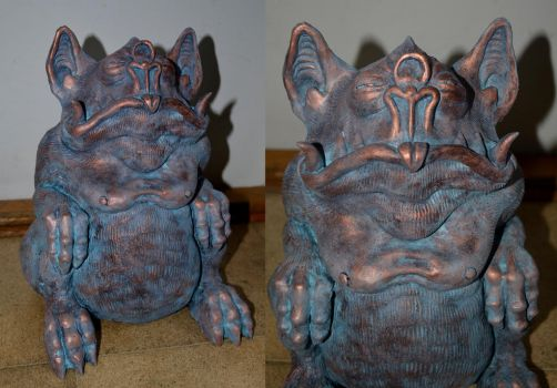 Tsathoggua Idol With Verdigris by Loneanimator