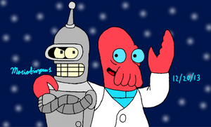 Bender and Dr Zoidberg by MarioSimpson1