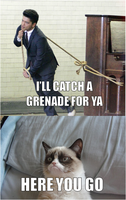 Grenade for you - love from GrumpyCat by DumbledoreIsAmazing