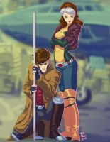 Gambit  Rogue by Fpeniche